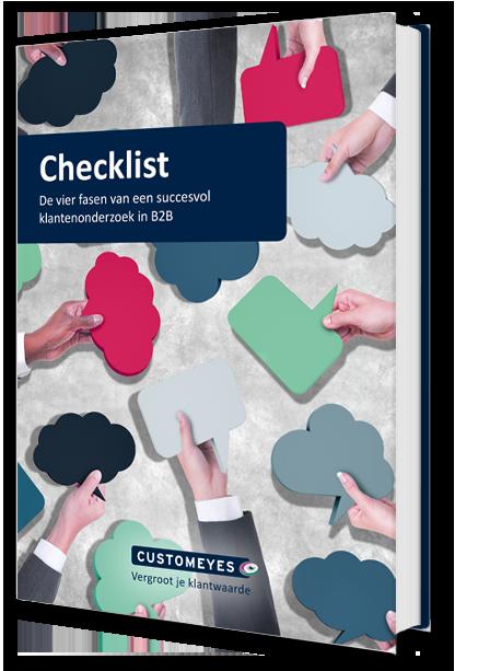 klanttevredenheidsonderzoek uitvoeren met de checklist